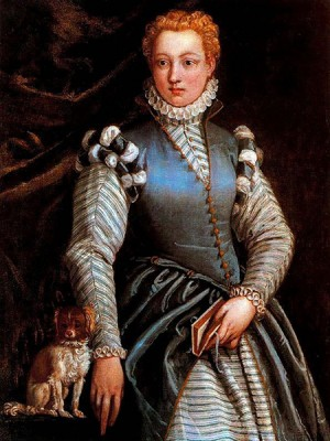 """Portrait of a Woman with a dog"", Veronese 1560-1570"